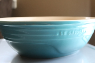 So versatile! It's a serving dish, but you can mix in it, bake in it, do whatever you want in it.