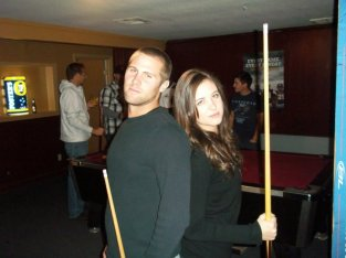 "This is when we were just a couple of ""friends"" playing pool"